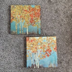 Set of 2 Tree Canvases